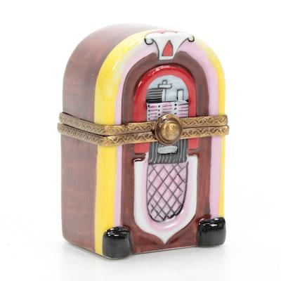 Rochard Hand-Painted Porcelain Juke Box Limoges Box