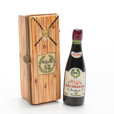 Parry Vieille Hand-Painted Wine Crate Porcelain Limoges Box