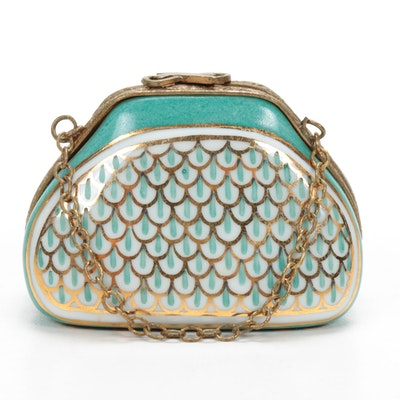 Hand-Painted Porcelain Handbag Limoges Box