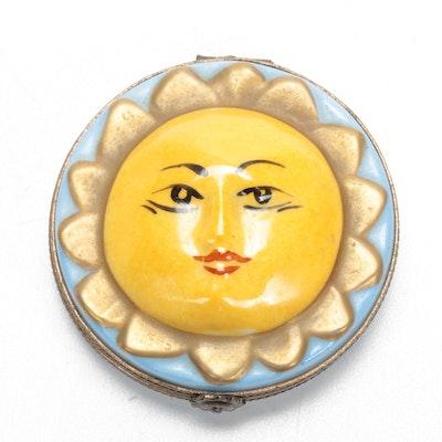 """Hand-Painted Porcelain """"Sun"""" Limoges Box"""