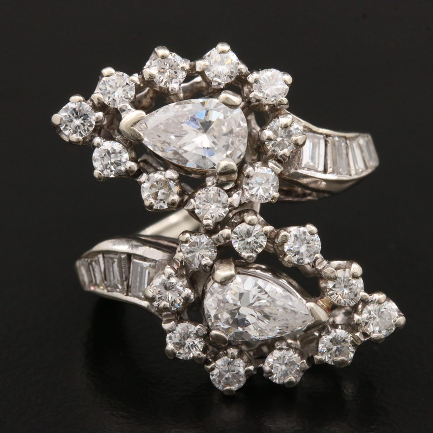 14K 2.64 CTW Diamond Bypass Ring