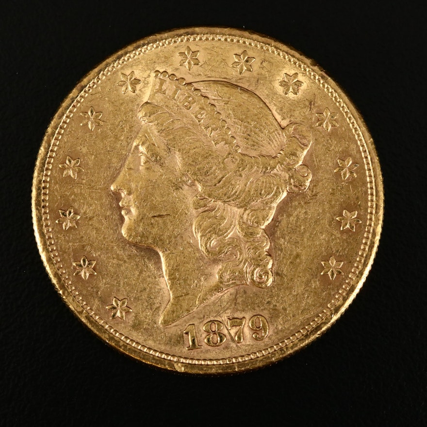 1879-S Liberty Head $20 Gold Double Eagle Coin