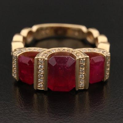 14K Corundum and 0.50 CTW Diamond Ring