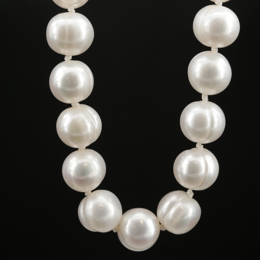 Michael Anthony Knotted Pearl Necklace with 14K Clasp