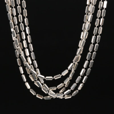 Milor Sterling Silver Chain Necklace
