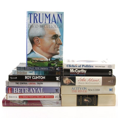 "Signed ""Truman"" by McCullough with More Books on Political Figures and Politics"