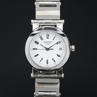 "Movado ""Vizio"" Stainless Steel Wristwatch"