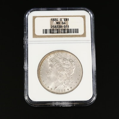 NGC Graded MS64 1884-O Morgan Silver Dollar