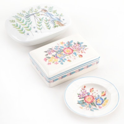 Rosenthal and Wedgwood Trinket Boxes and Ash Tray