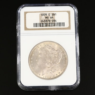 NGC Graded MS64 1899-O Morgan Silver Dollar