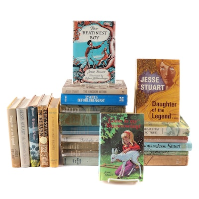 """Jesse Stuart Book Collection Including First Edition """"Taps for Private Tussie"""""""