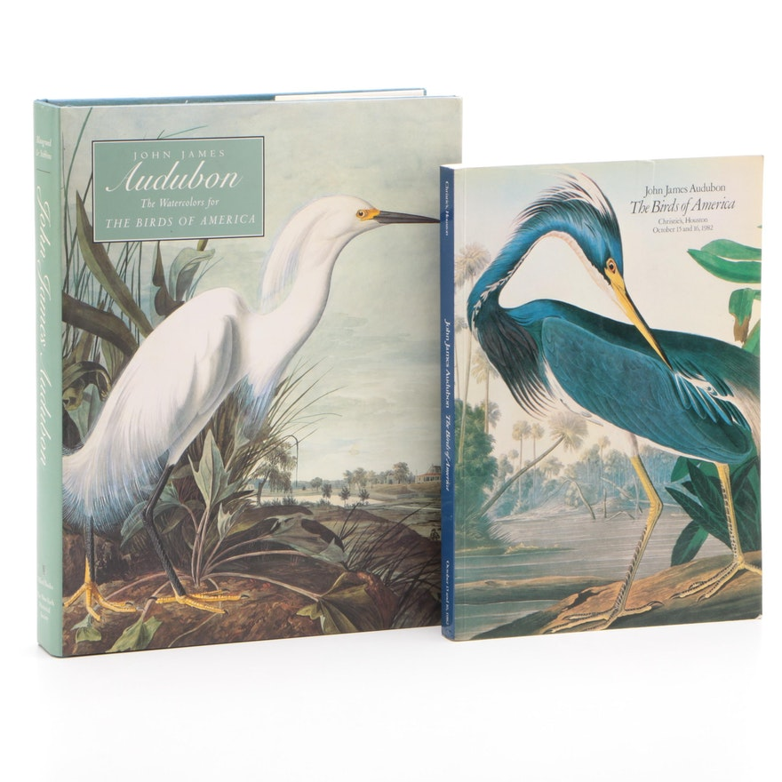 "Audubon's ""The Watercolors for The Birds of America"" with Christie's Catalog"