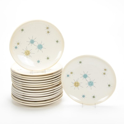 "Franciscan ""Starburst"" Atomic Dinner Plates, Mid-20th Century"