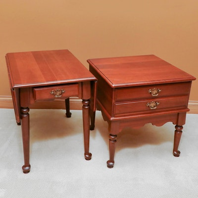 Baumritter Queen Anne Style Side Tables, Late 20th Century
