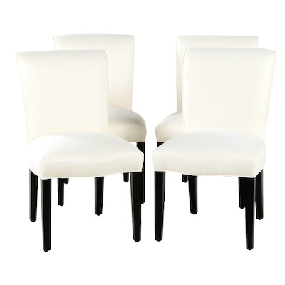 Four Williams-Sonoma Home Upholstered Dining Chairs
