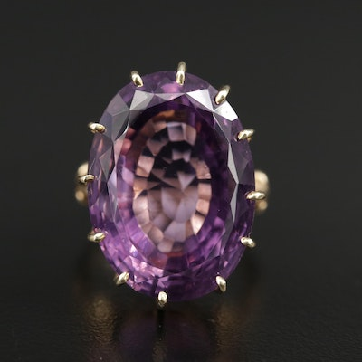 14K Gold 31.38 CT Amethyst Ring