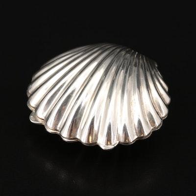 Leonore Doskow Sterling Silver Shell Motif Pill Box