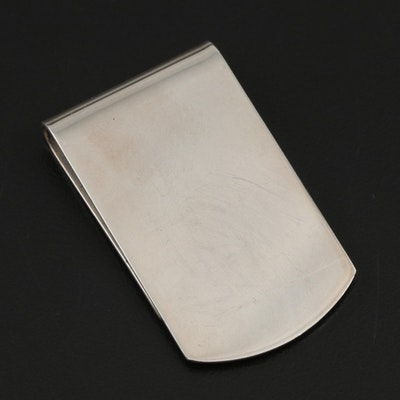 Reed & Barton Sterling Silver Money Clip, Mid to Late 20th Century