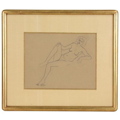 André Derain Graphite Drawing of a Female Nude
