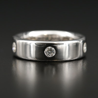 14K White Gold 0.60 CTW Diamond Band