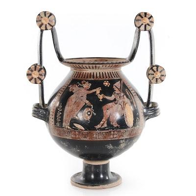 Apulian Red-Figured Style Ceramic Nestoris, 19th Century