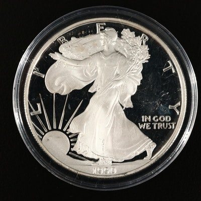 1990-S American Silver Eagle Proof Bullion Coin