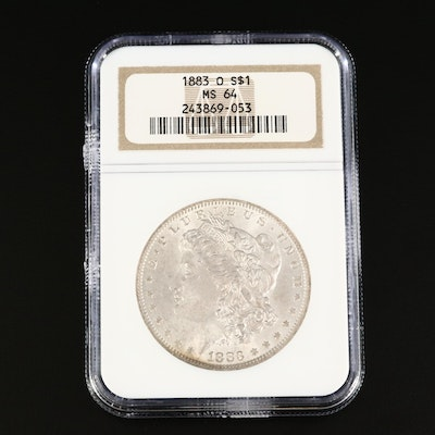 NGC Graded MS64 1883-O Morgan Silver Dollar