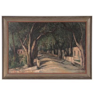 "Clara Smyth Brown Modern Landscape Oil Painting ""Memory Mood - Taos"""
