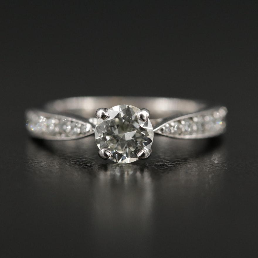 18K Diamond Hearts on Fire Ring