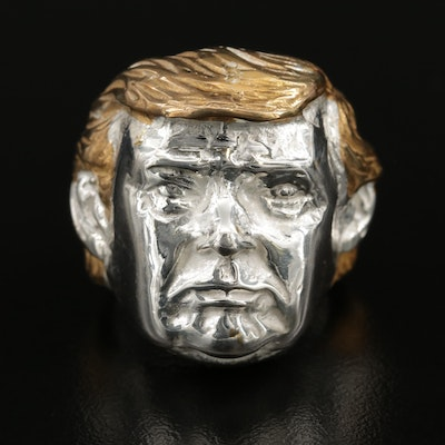 Sterling Silver Trump Figural Ring