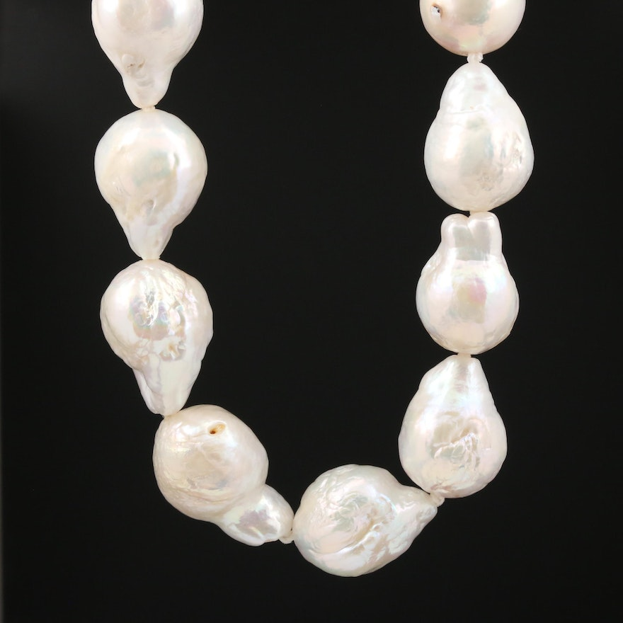 Baroque Pearl Necklace with 18K Closure