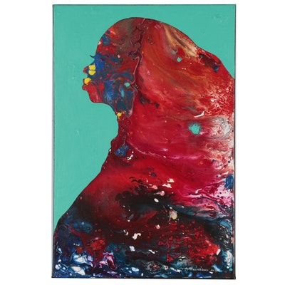 "Abiola Idowu Acrylic Painting ""Spirit of Love"", 2019"