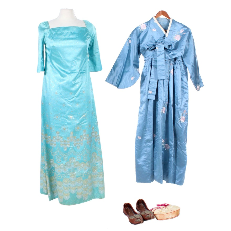 Filipino Terno Dress, South Korean Hanbok, Other Traditional Shoes and Purse