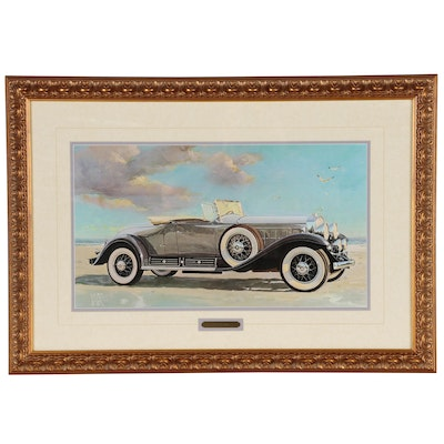 "Offset Lithograph after Vladimir Kordic ""1930 Cadillac"""