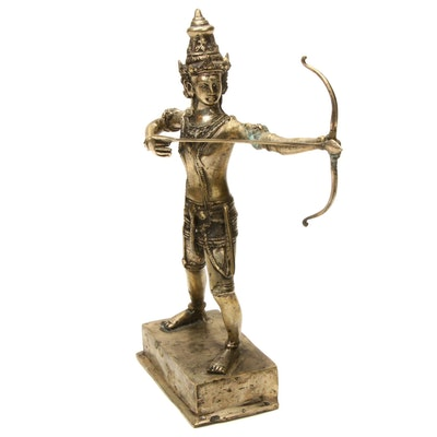 Southeast Asian Rama Shooting Arrow Metal Figurine