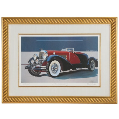 "Offset Lithograph ""1931 Duesenberg"" Model J Speedster"