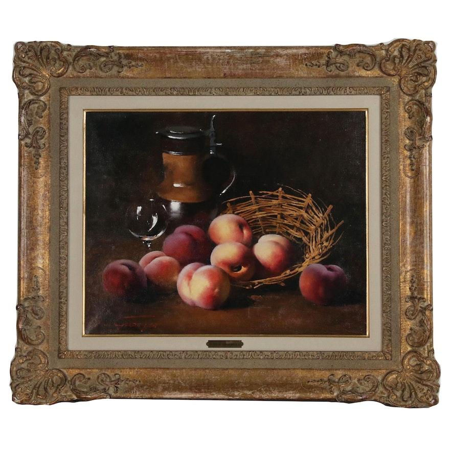 Simon van Gelderen Realist Style Still Life Oil Painting