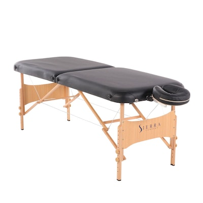 Sierra Comfort Massage Table with Life Gear Canvas Carrying Case
