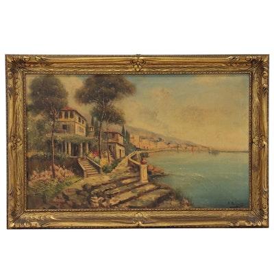 Nicholas Briganti Italian Landscape Oil Painting