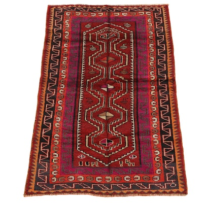 4'5 x 7'0 Hand-Knotted Persian Shiraz Wool Rug