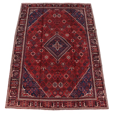 7'9 x 11'1 Hand-Knotted Persian Ardabil Wool Rug