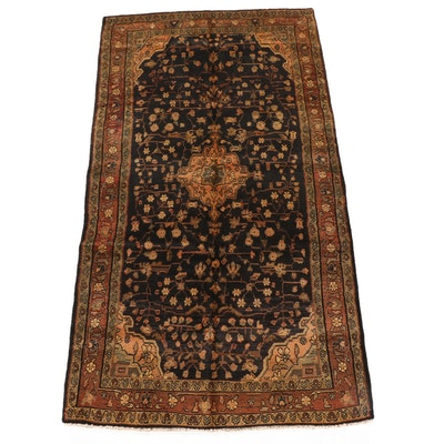 5'1 x 9'5 Hand-Knotted Persian Wool Rug