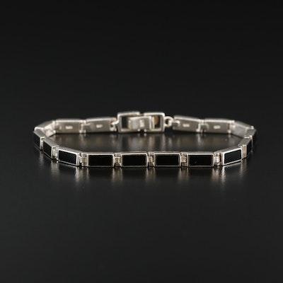 Sterling Resin Bracelet