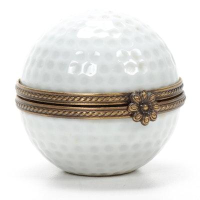 Rochard Porcelain Golf Ball Limoges Box