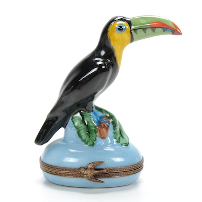Chamart Hand-Painted Porcelain Toucan Limoges Box