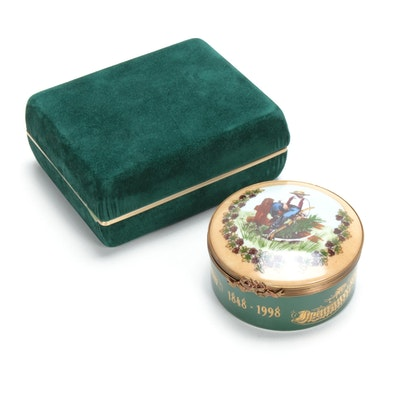 """Limited Edition Hand-Painted """"Ohio Farmers"""" Limoges Box, 1998"""