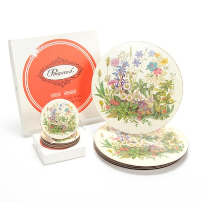 Pimpernel Acrylic Coasters and Round Place Mats
