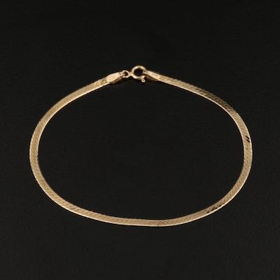 14K Herringbone Chain Bracelet