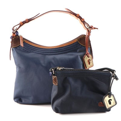 Dooney & Bourke Erica Navy Shoulder Bag and Crossbody Pouchette