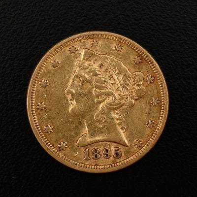 1895 Liberty Head $5 Gold Half Eagle